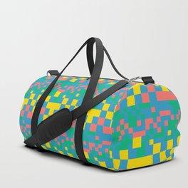 Pixel squares Duffle Bag