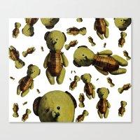 teddy bear Canvas Prints featuring Teddy-bear by Кaterina Кalinich
