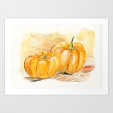 Mini Pumpkins II Art Print