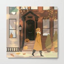 Fall in New York Metal Print