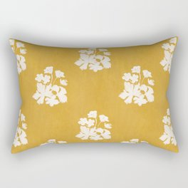 Wild Geraniums in Yellow Rectangular Pillow
