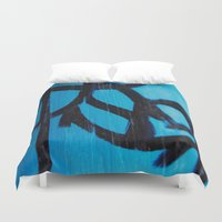 subway Duvet Covers featuring Subway by Lotus Effects