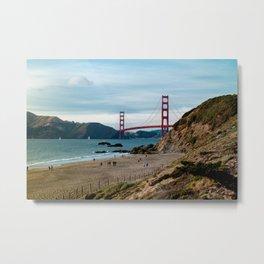 Golden Gate at Baker Beach Metal Print