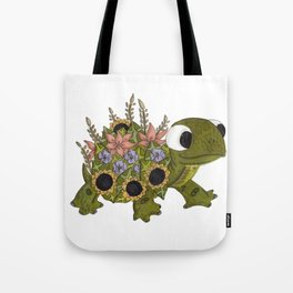 Floral Tortoise Tote Bag