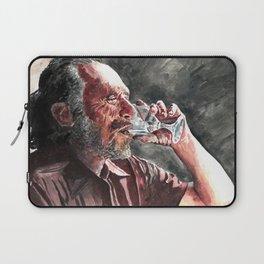Charles Bukowski acrylic portrait Laptop Sleeve