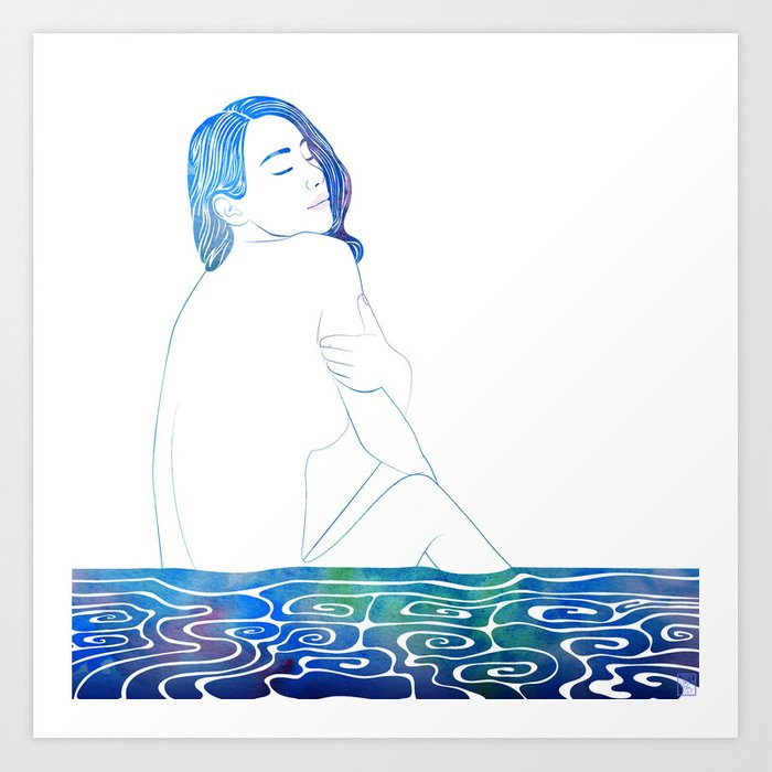 Water Nymph LXXXVII Art Print