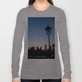 Manhattan at night from the Brooklyn bridge Long Sleeve T-shirt