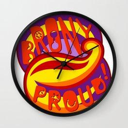 Brony Proud - Red Wall Clock