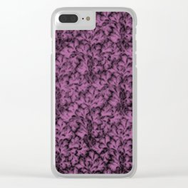 Vintage Floral Lace Leaf Bodacious Clear iPhone Case