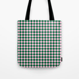 Cotton Candy Pink and Cadmium Green Diamonds Tote Bag