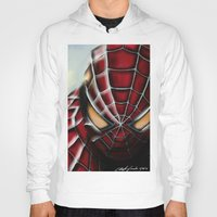spider man Hoodies featuring Spider-Man by Inspirations