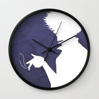 cowboy bebop Wall Clocks featuring Cowboy Bebop ver 2 by AWAL