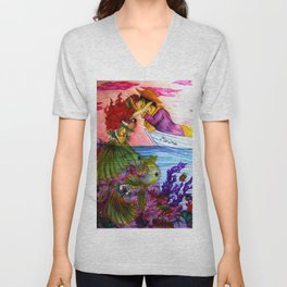 Where the Land Meets the Sea Unisex V-Neck