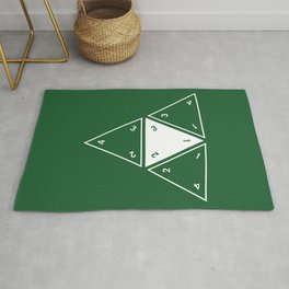 Green Unrolled D4  Rug