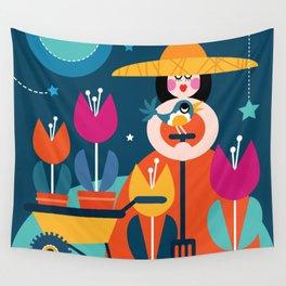 Night Gardening Wall Tapestry