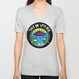 Take me with you Unisex V-Neck