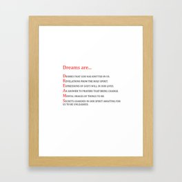 Dreams are.... Framed Art Print