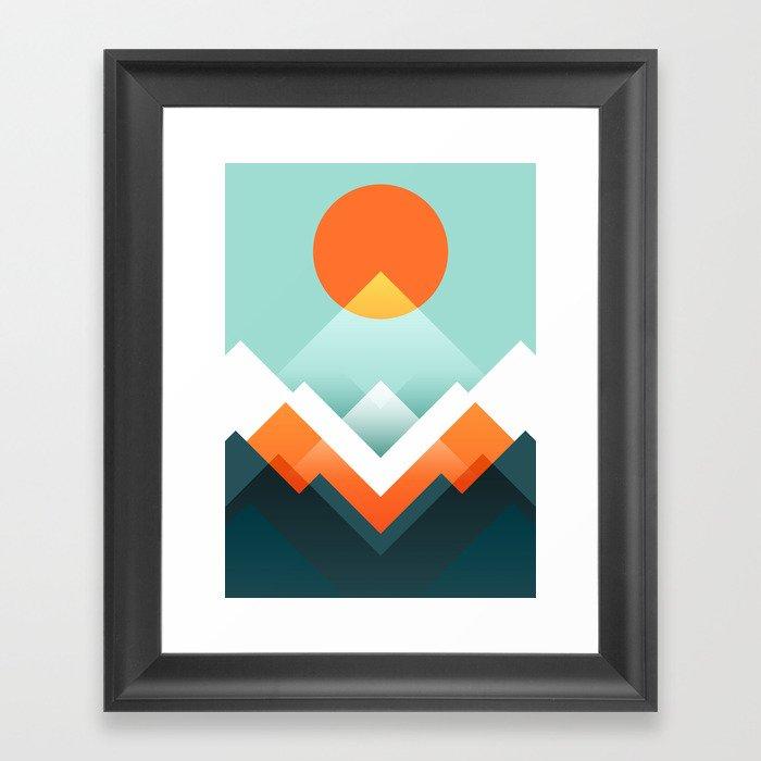 Everest Gerahmter Kunstdruck