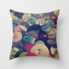 buttons Throw Pillow