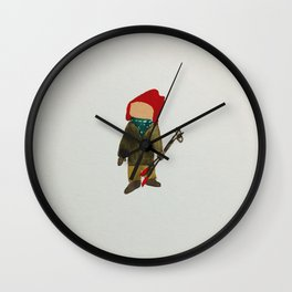 Toddies Winter Snow Days Toddler Skier Boarder Wall Clock