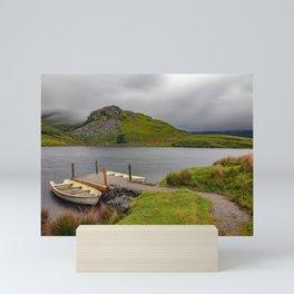 Llyn y Dywarchen, Rhyd Ddu Snowdonia Mini Art Print