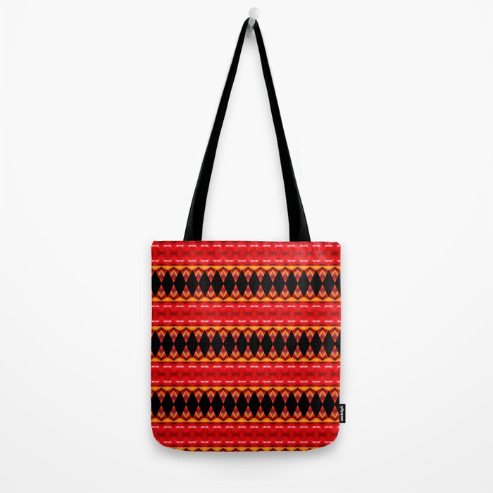 Black Diamonds on red Tote Bag