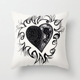 """If I Had A Heart, This Is What It Would Look Like"" Throw Pillow"