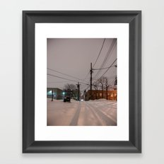 White Trails Framed Art Print