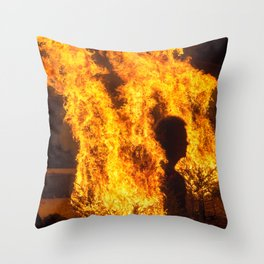 Man In The Fire Throw Pillow