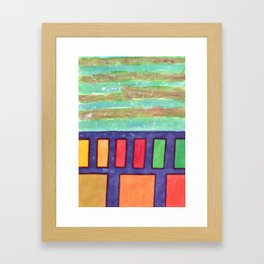 Building with colorful Windows Framed Art Print