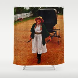 Anne of Green Gables Pulls the Carriage Shower Curtain