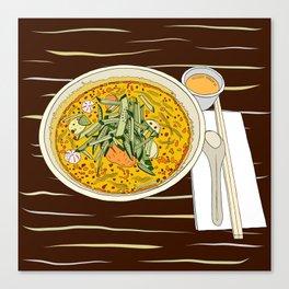 Singapore Laksa Noodle Canvas Print