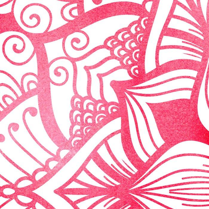 Mandala in red, watercolor Leggings