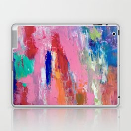 Lucky #13, a contemporary abstract in pinks and fuchsias Laptop & iPad Skin