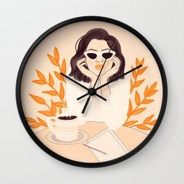 Coffee Shop Afternoon Wall Clock