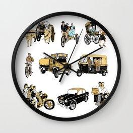 Indian Transportation Wall Clock