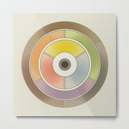 The theory of colouring - Diagram of colour by J. Bacon, 1866, Remake, vintage wash (no text) Metal Print