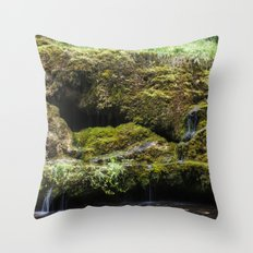 The Staburags cliff of Rauna Throw Pillow
