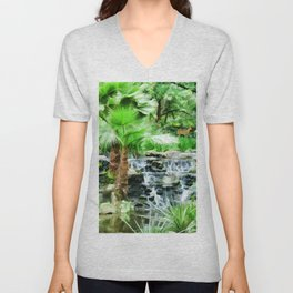 Peaceful forest life Unisex V-Neck