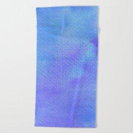 Blues & Purples Watercolor Beach Towel