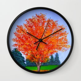 Fall tree in ND Wall Clock