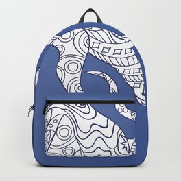 octopus on the blue Backpack
