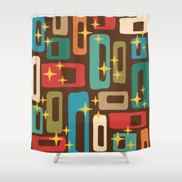 Retro Mid Century Modern Abstract Pattern 222 Shower Curtain