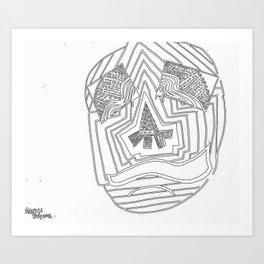 Mask #1: Eyes of Rain  Art Print