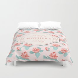 Happy Mother's Day Floral pattern Duvet Cover