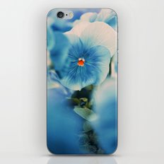 the blue beauty iPhone Skin