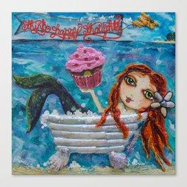 Cupcake Mermaid Canvas Print