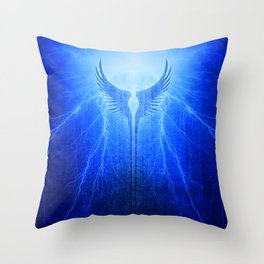 Vikings Valkyrie Wings of Protection Storm Throw Pillow