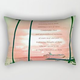 """Inspiration At Catalina"" with poem: My Own Day Rectangular Pillow"