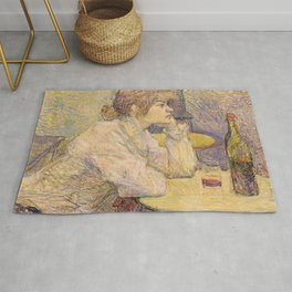 """Henri de Toulouse-Lautrec """"The Hangover (Suzanne Valadon)"""" Rug"""